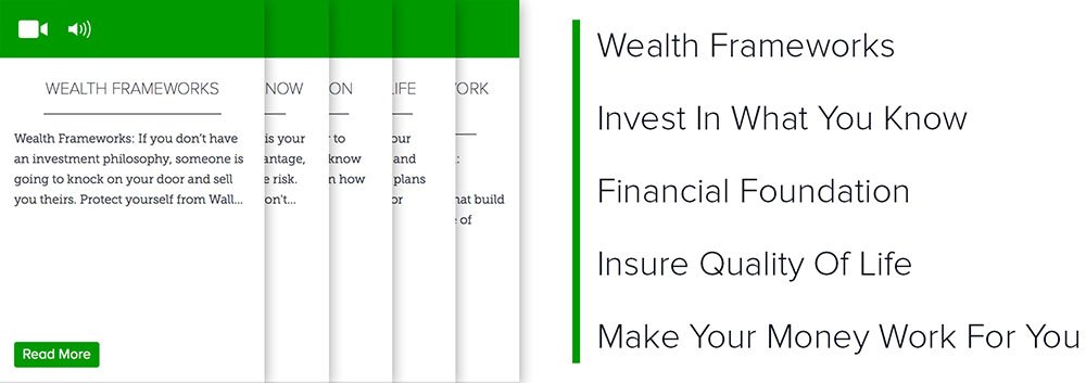 Lever 3: Wealth Frameworks, Invest In What You Know, Financial Foundation, Insure Quality Of Life, Make Your Money Work For You