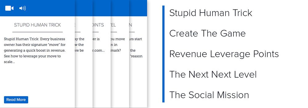 Lever 4: Stupid Human Trick, Create The Game, Revenue Leverage Points, The Next Next Level, The Social Mission