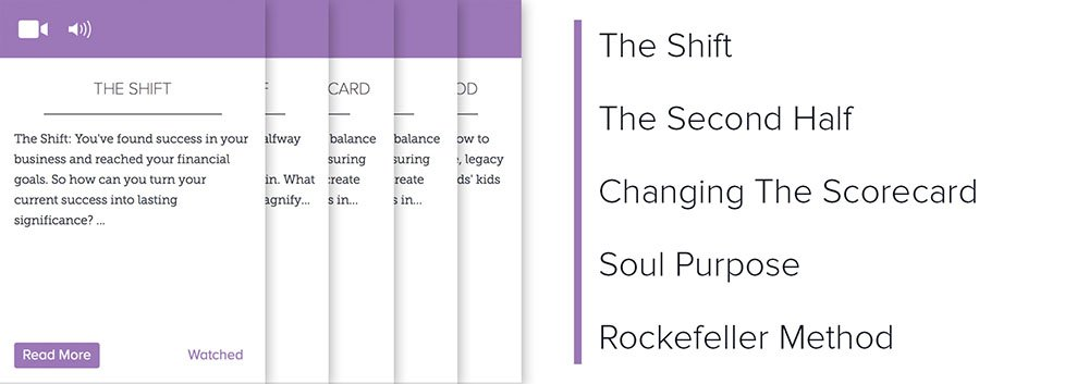 Lever 5: The Shift, The Second Half, Changing The Scorecard, Soul Purpose, Rockefeller Method